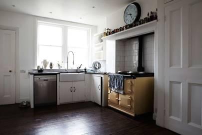 cream kitchen with yellow aga kitchen with aga   kitchen design ideas   kitchen decor   house      rh   houseandgarden co uk
