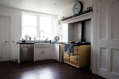 Cream Kitchen with Yellow Aga