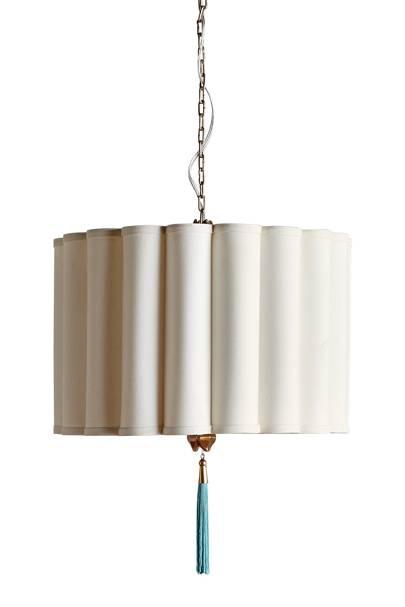 Cotton and Iron Pendant Light