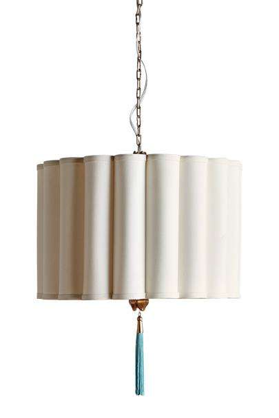 Cotton and Iron Pendant Light