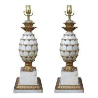 Mid-century pineapple lamps