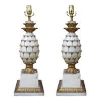 Mid-century pineapple lamps