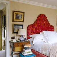 Cream Bedroom with Patchwork Headboard