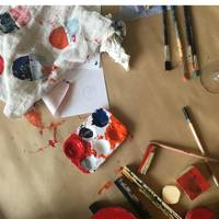 Block printing with Ren London and At The Table
