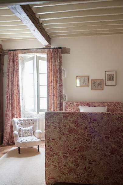 Red Twin Bedroom - French Farmhouse