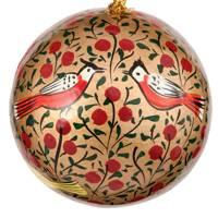 Red & Gold Bird Bauble
