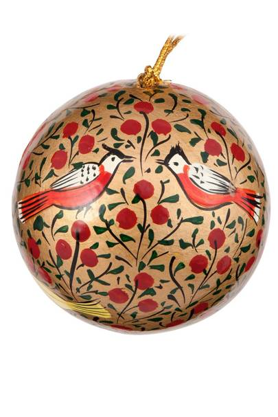 Red & Gold Bird Bauble