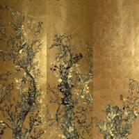 Dutch gold-leaf wallpaper panels, 'Golden Oriole'