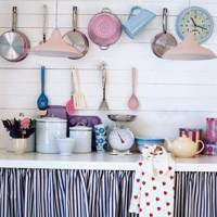Add Curtains and Hooks to Your Kitchen