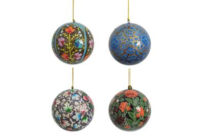 Papier Mache Baubles from Decorator's Notebook