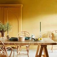 Yellow Farmhouse Dining Room