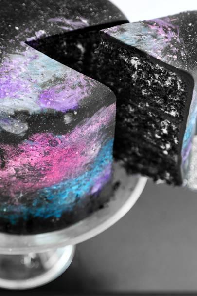 Black Velvet Galaxy Cake