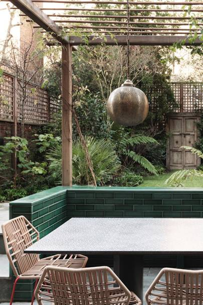 ... Create An Organic, Mystical, Jungle Inspired Space Using Natural And  Organic Materials That Soften The Glass Extension Opening Onto This Small  Garden.
