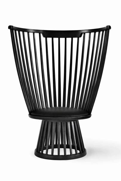 Black Fan Chair
