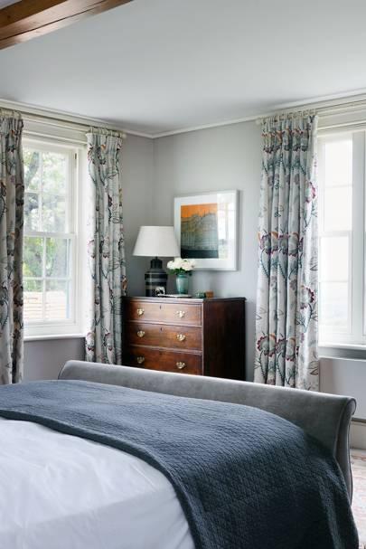 Blue Farmhouse Bedroom
