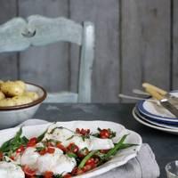 Roast cod with tomato vinaigrette
