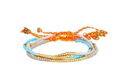 July 3: Blue Havana Bracelet Set, £41, from Jiya Jewellery