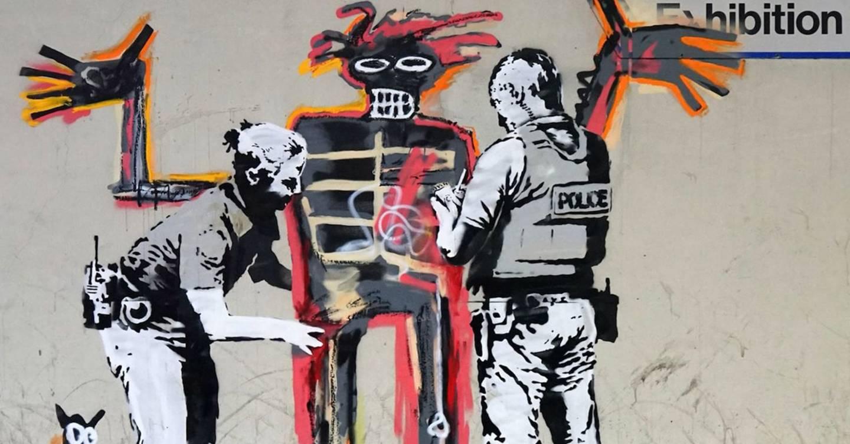 Banksy artworks appear ahead of Jean-Michel Basquiat exhibition