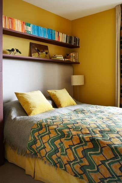 Small Sunshine Yellow Bedroom