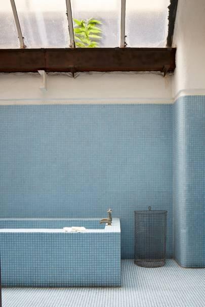Blue Tiled Bath - Tudor House