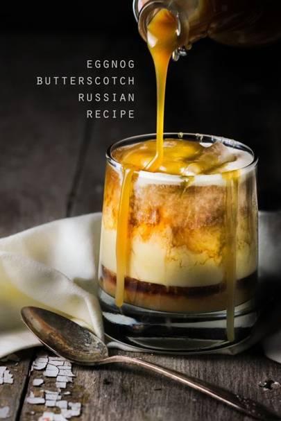 Eggnog Butterscotch Cocktail
