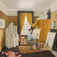 Attractive Design Ideas From Paintings: Eric Ravilious, Edward Bawden In His Studio,  1930