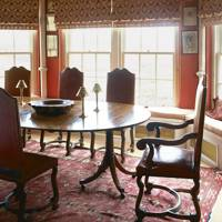 Red Antique Dining Room