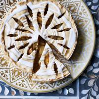 Pear lemon and rose water tart - House & Garden Magazine - October 2014 - Inside the Issue