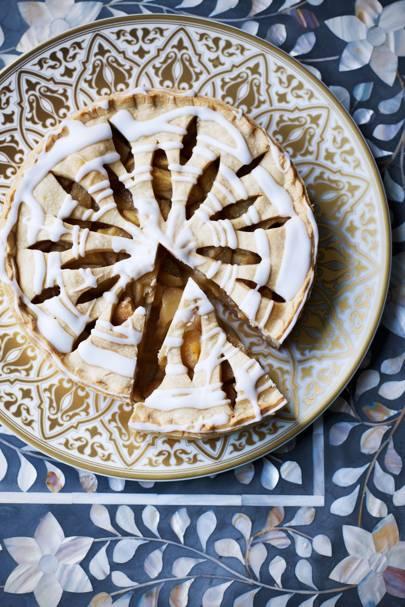 Pear lemon and rose water tart - House & Garden Magazine - October 2014 - Inside the Issue