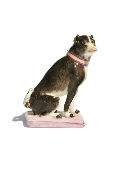 Porcelain figure of a dog