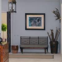 Dove-grey hallway