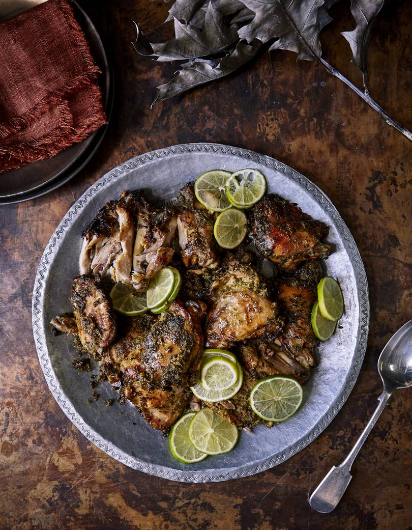 How to make Hariyali Murgh, or chicken marinated in coriander, mint and green chillies