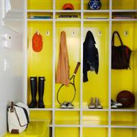Yellow Gloss Paint - Utility Room Ideas