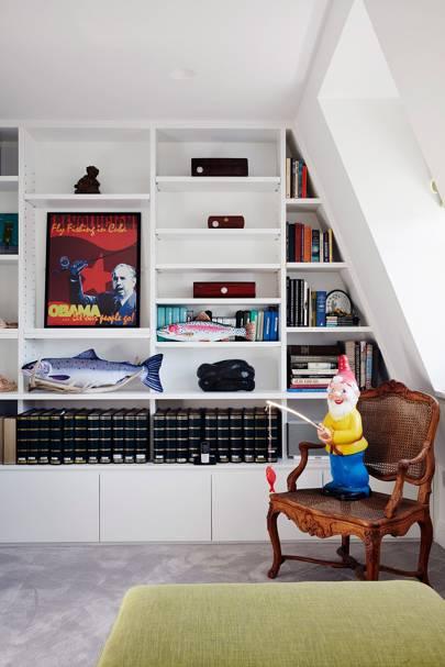Study with Alcove Bookshelf