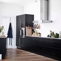White Dark Wood Kitchen
