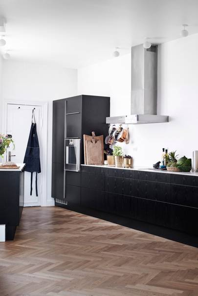 White Kitchen with Dark Units