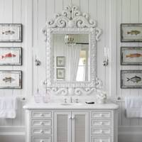 White Vanity Unit with Shelves