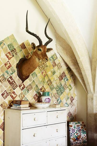 Tiled Bedroom Corner - Emma Bridgewater Oxfordshire House