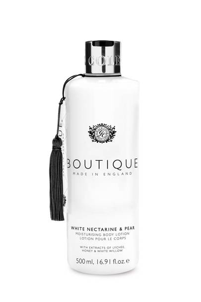 August 19: Boutique White Nectarine and Pear Body Lotion, £6
