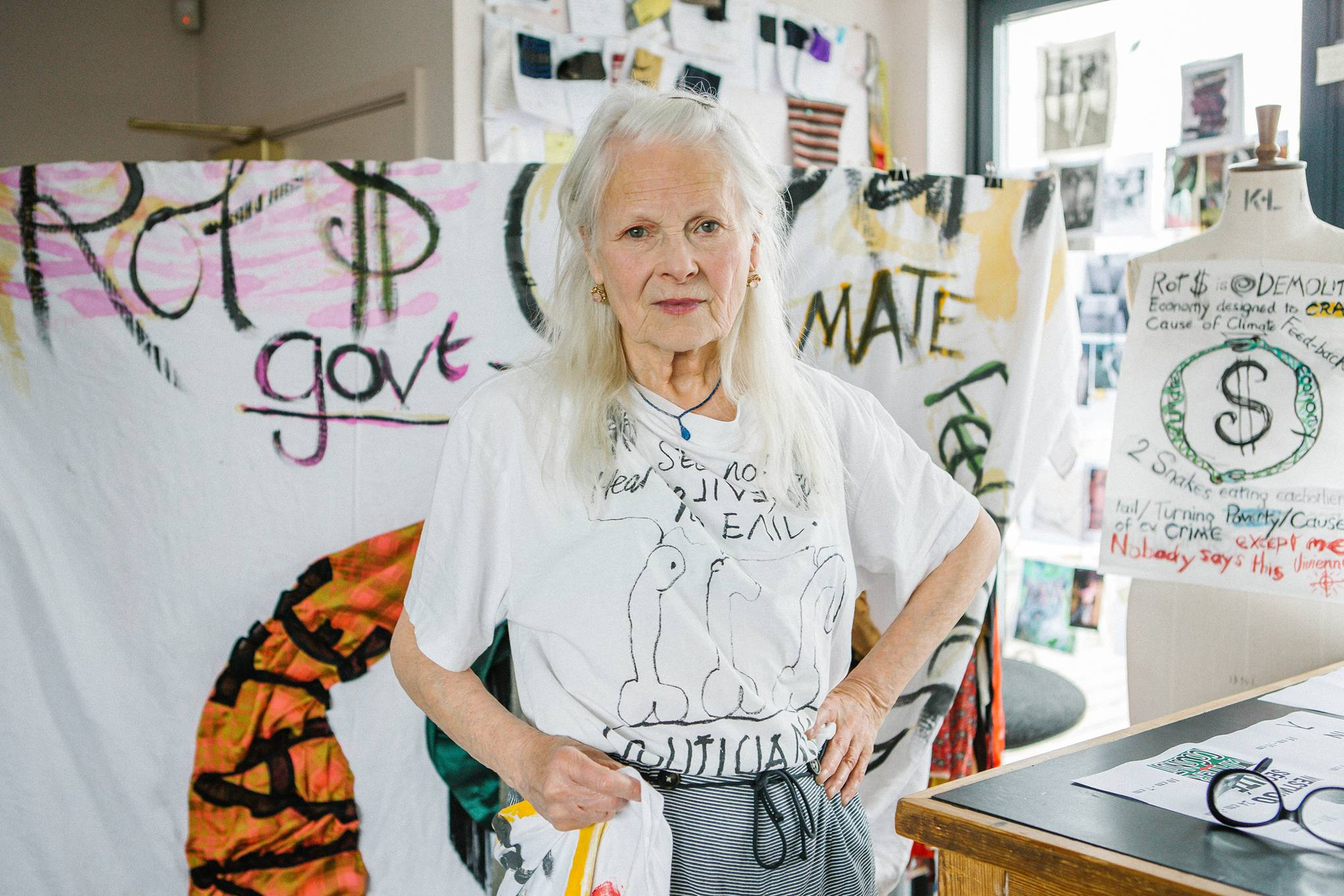 Vivienne Westwood's plan to save the world through the sale of her art