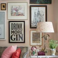 Rita Konig's London flat - Living Room