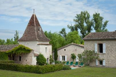 View of the Barns - French Farmhouse