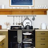 Black Aga Green Cupboards