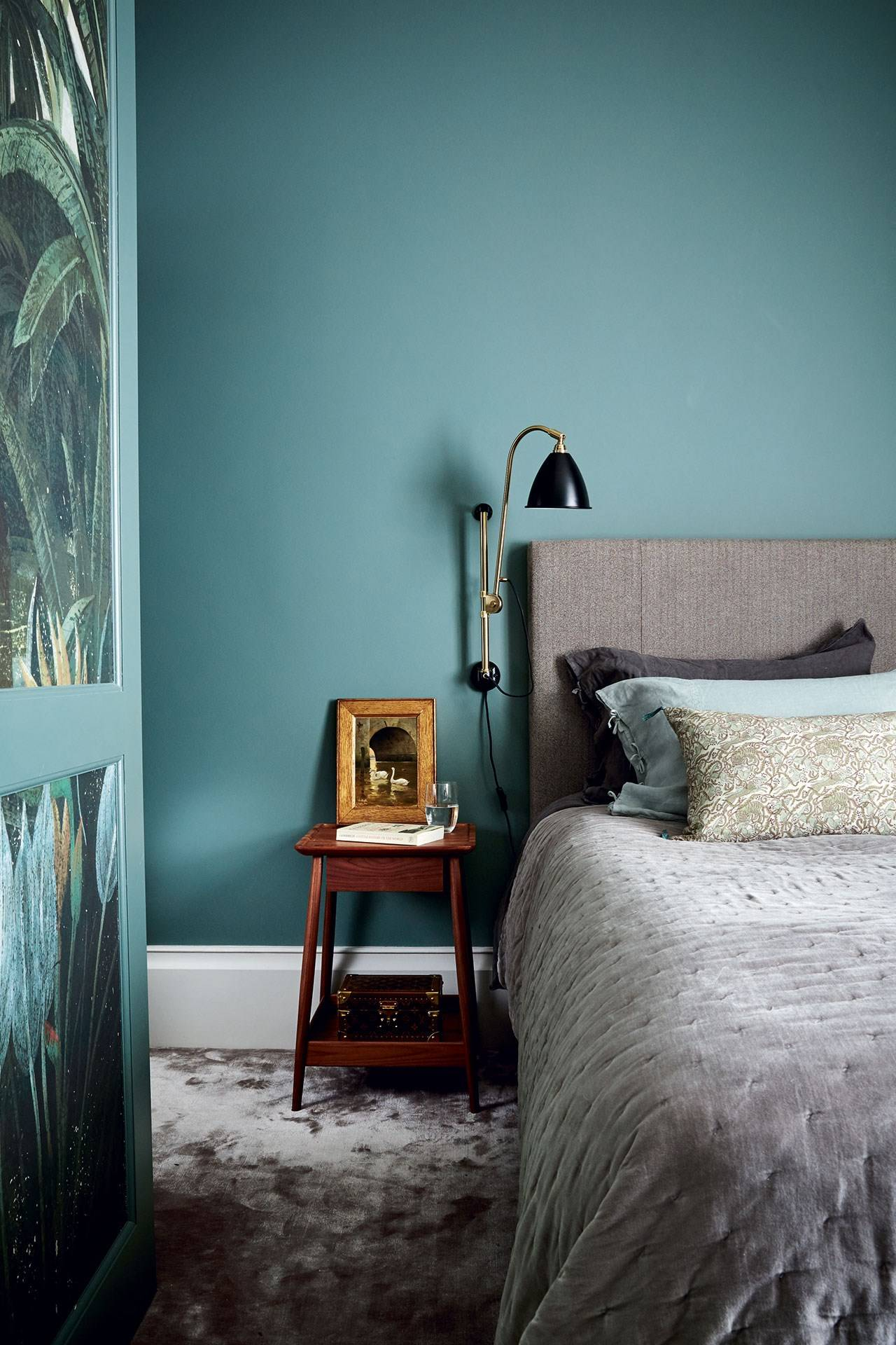 Teal Blue Bedroom Wall Paint Colour Ideas House Garden