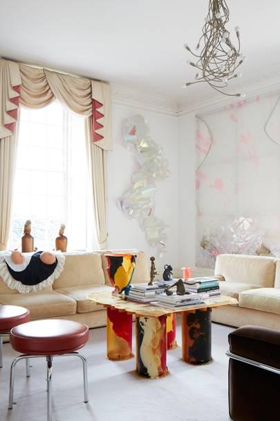 White Living Room, Coffee Table | Living Room Design Ideas