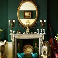 Green Fireplace