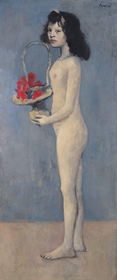 PABLO PICASSO (1881–1973) Fillette à la corbeille fleurie