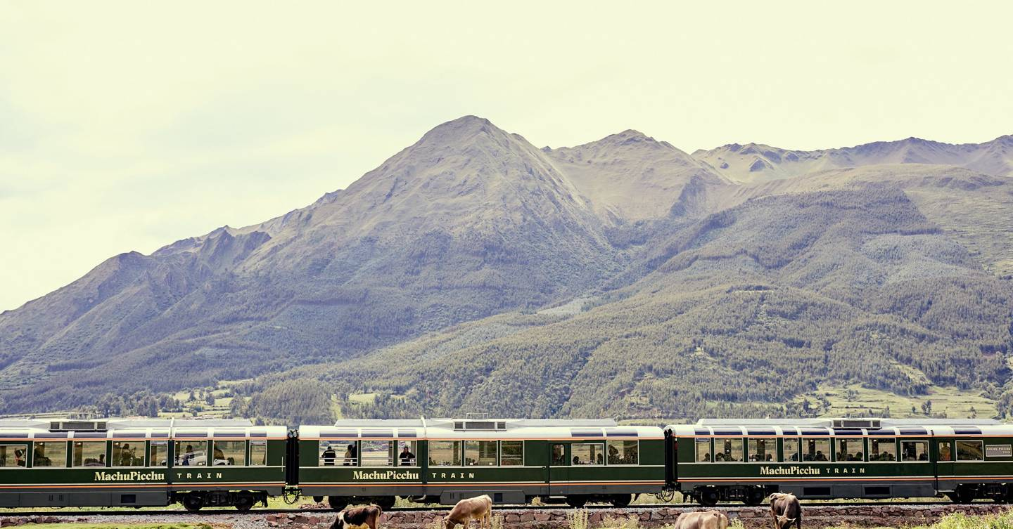 Scenic train journey travels to Machu Picchu in style
