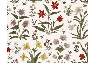 Mogul Flowers Linen
