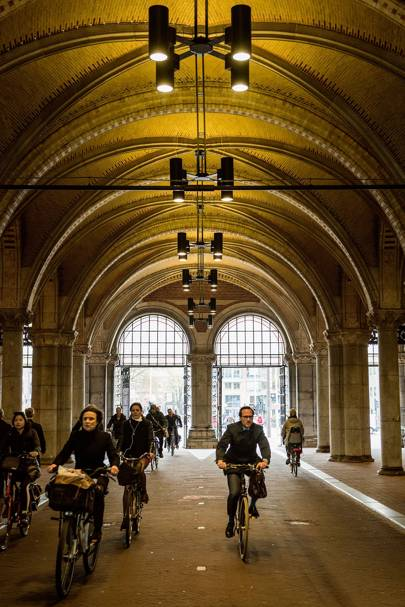 Cycle the Rijksmuseum's Bicycle Underpass